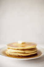 Pancakes on a plate.
