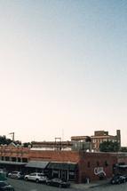 brick buildings downtown