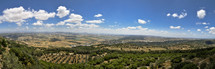 Panoramic view from Mount Carmel looking down at the Kishon River where the famous story of Elijah and the Baal Prophets took place