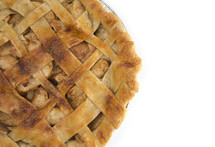 Homemade Apple Pie Isolated on a White Background