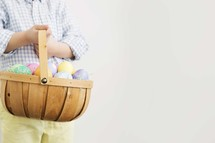 boy holding an Easter basket