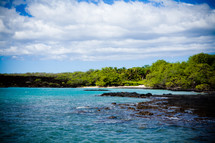 blue sea water and shoreline