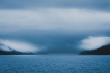 storm clouds over a sea
