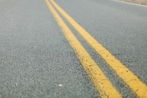 double yellow center lines