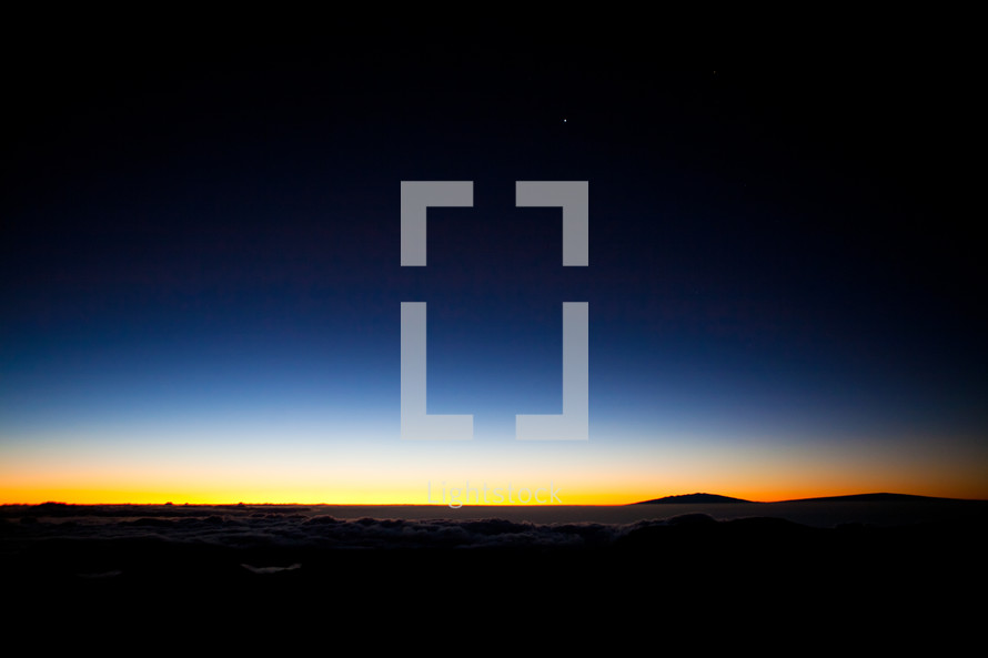 horizon over mountaintops