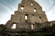 wall of ruins