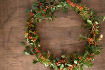 a holly wreath