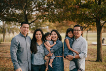 family portrait in fall