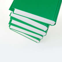 stack of green books