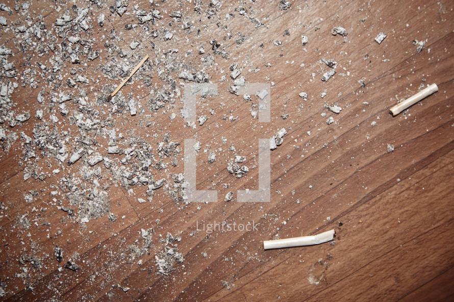 cigarette ashes