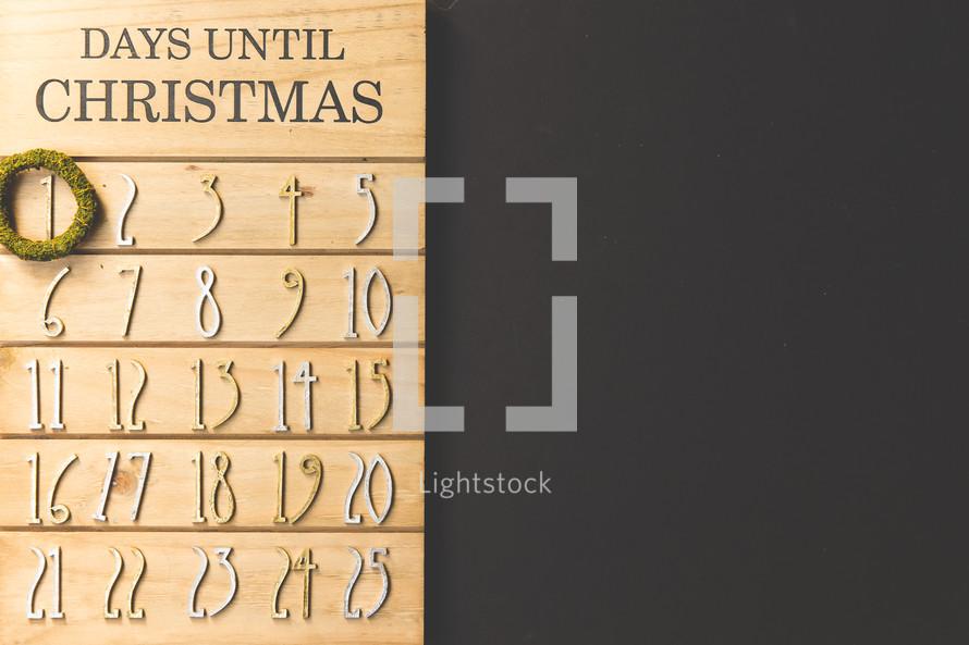 December 1st on a Christmas Advent calendar
