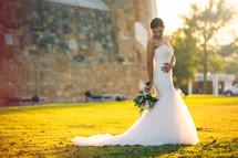 a portrait of a Latino bride