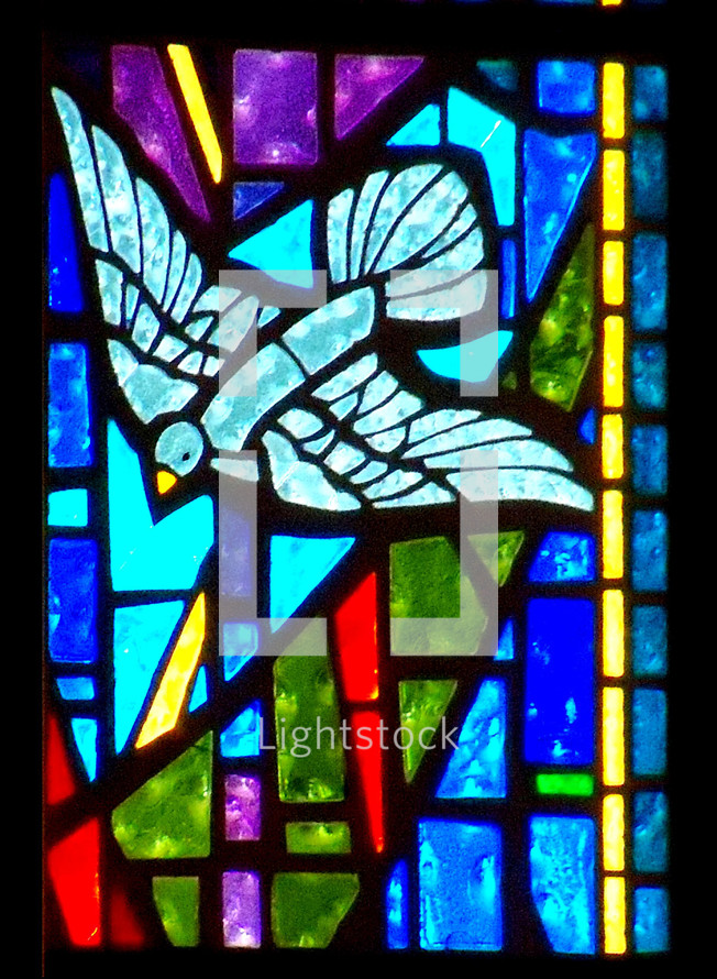 "One of my favorite verses is found in Luke 3:22 when it describes the Holy Spirit descending from Heaven like a Dove after Jesus was baptized. There is a stained glass window in my church that illustrates this verse and it always brings me great joy and peace to see it. When I think of the Holy Spirit, I think of peace, comfort and assurance that keeps us company and abides with us. ""and the Holy Spirit descended on him in bodily form like a dove. And a voice came from heaven: ""You are my Son, whom I love; with you I am well pleased. - Luke 3:22."
