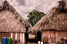 A pair of huts