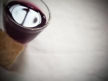 unleavened bread and wine