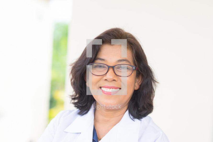 smiling doctor headshot
