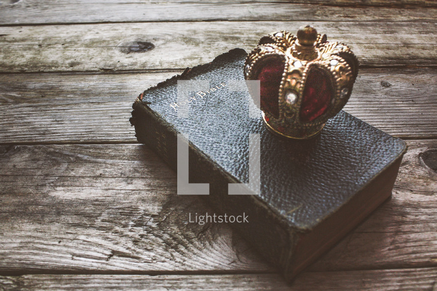 a crown on a Bible