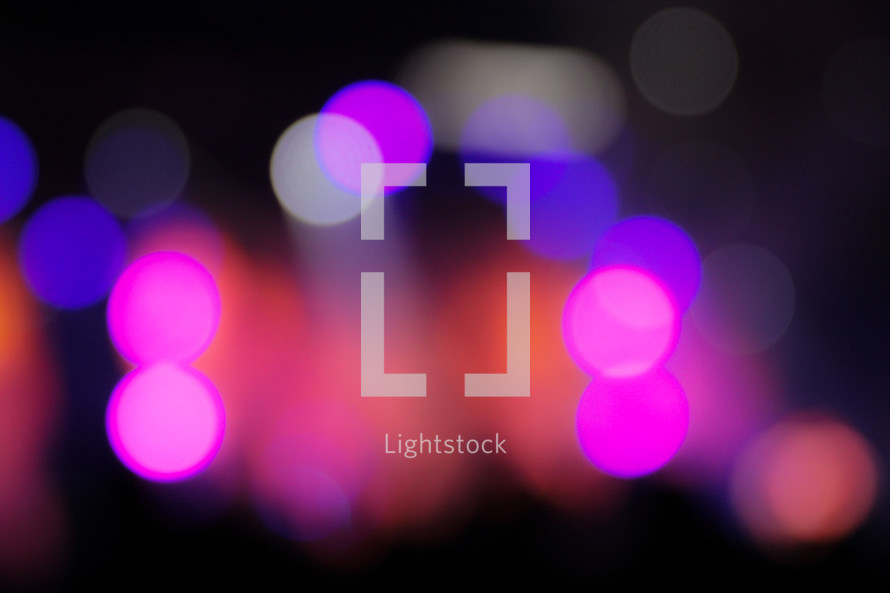 bokeh stage lights