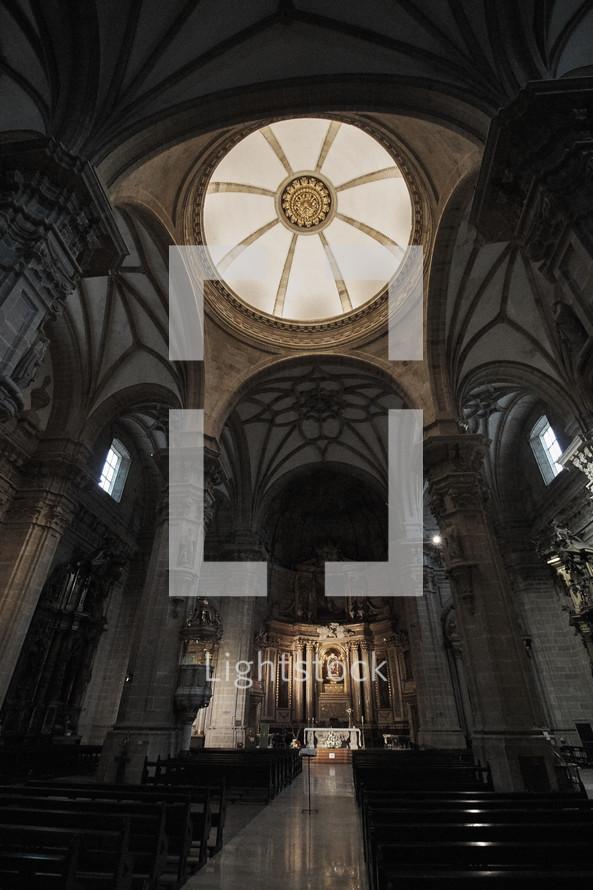 pews in a basilica