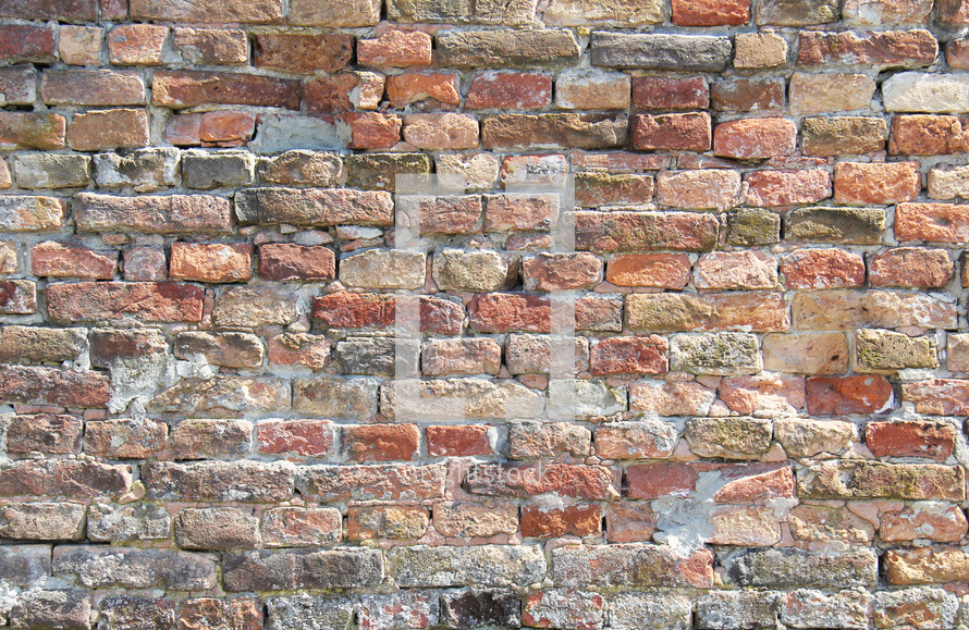 Rustic, hand made, brick wall background