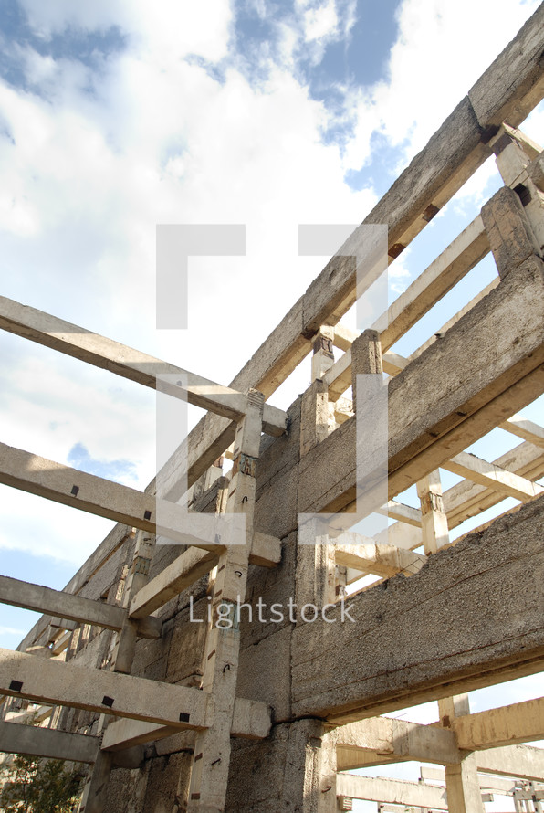 concrete support beams