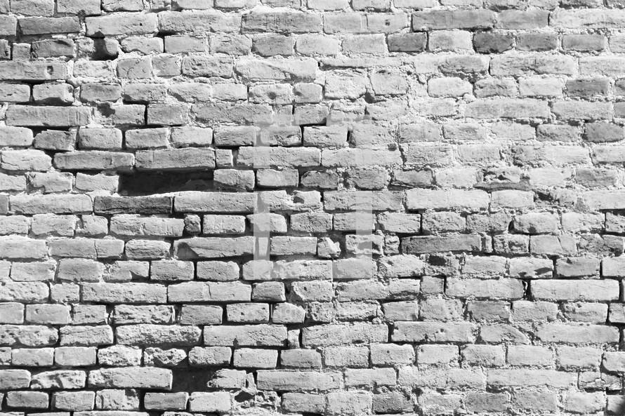 Rustic, hand made, ancient brick wall