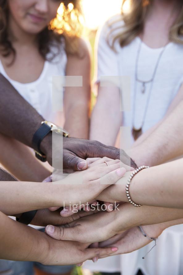prayer circle outdoors