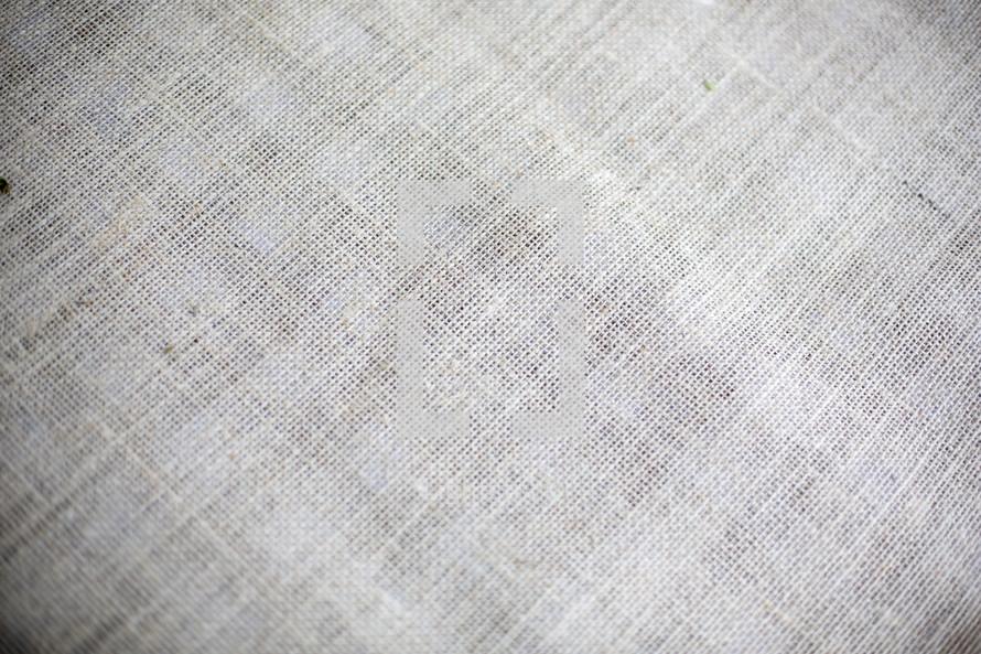 Linen cloth.
