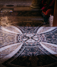 marbled floor in a temple