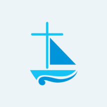 sailboat with cross