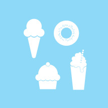 ice cream, ice cream cone, donut, dessert, treat, food, milkshake, icon