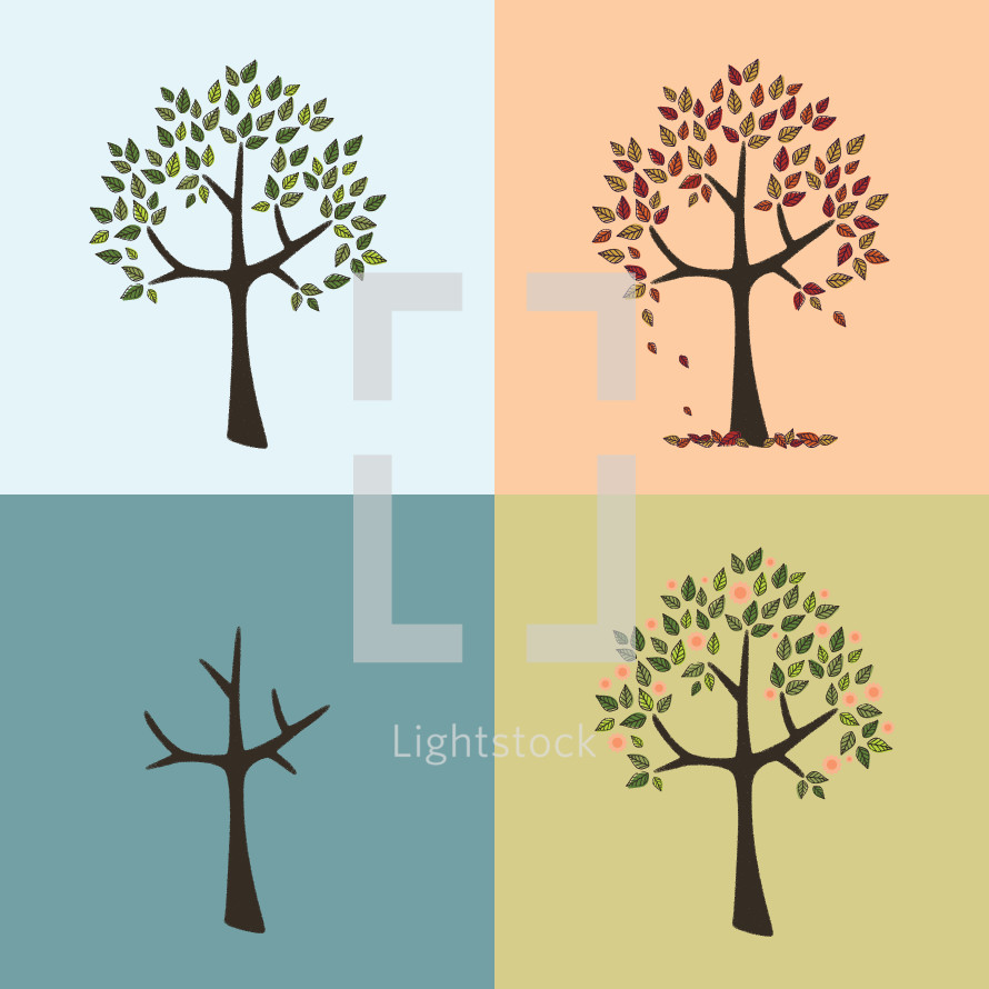 seasons illustrations.
