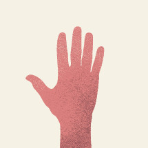 raised hand illustration.