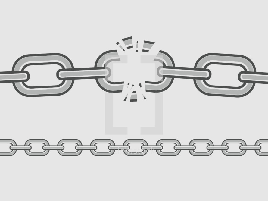 Linked Chain breaking and a chain pattern.