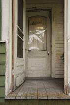 back door on an old farmhouse