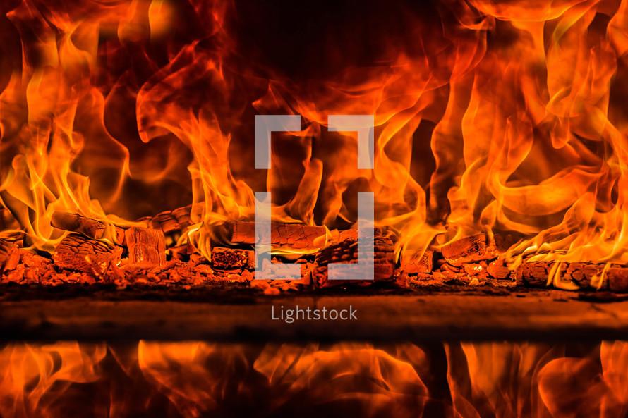 Fire, flame, trial, furnace, fiery, heat, purification, burn, consuming