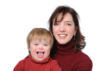 mother and son with down syndrome