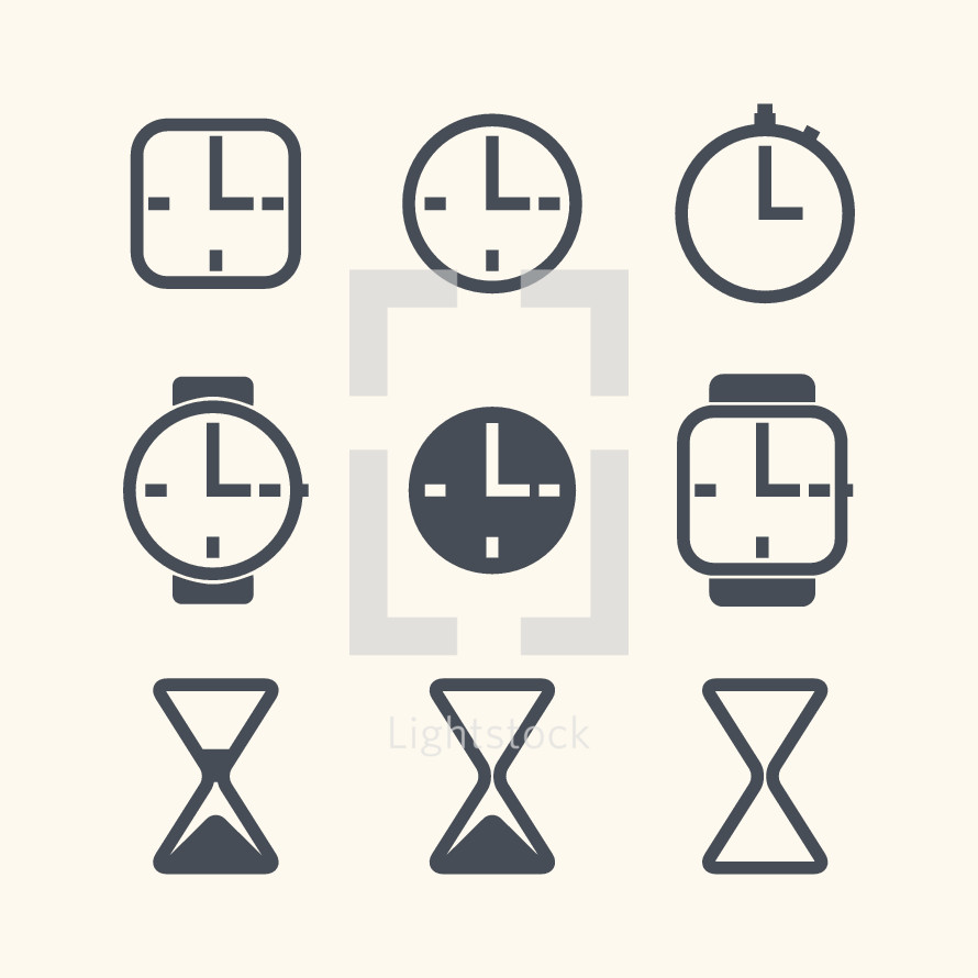 clock and time icons.