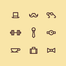 gentleman icons.