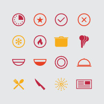 cooking icon set.