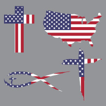 American flag shapes