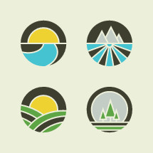 modern nature badge icons.