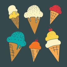 ice cream cone icons