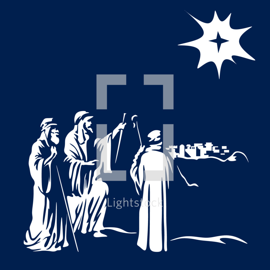 shepherds and the star of Bethlehem
