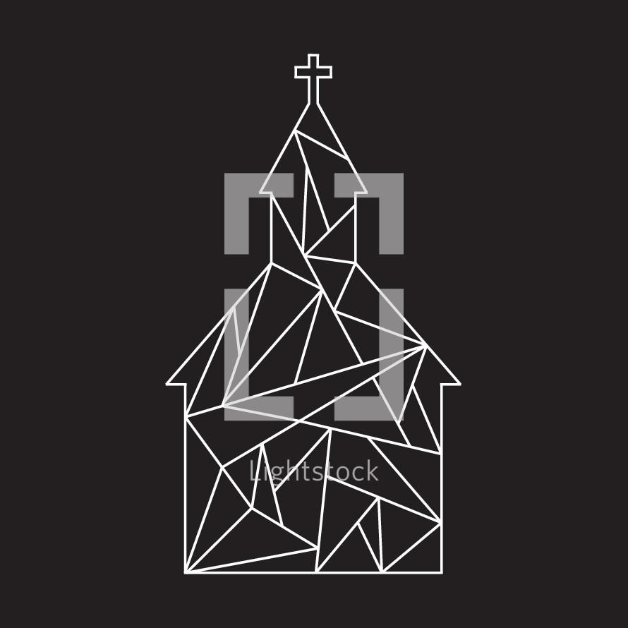 geometric church icon