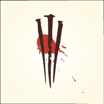 three crosses and blood