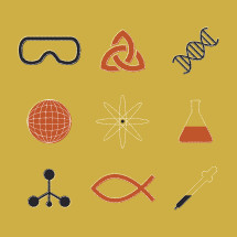 Science icon set.
