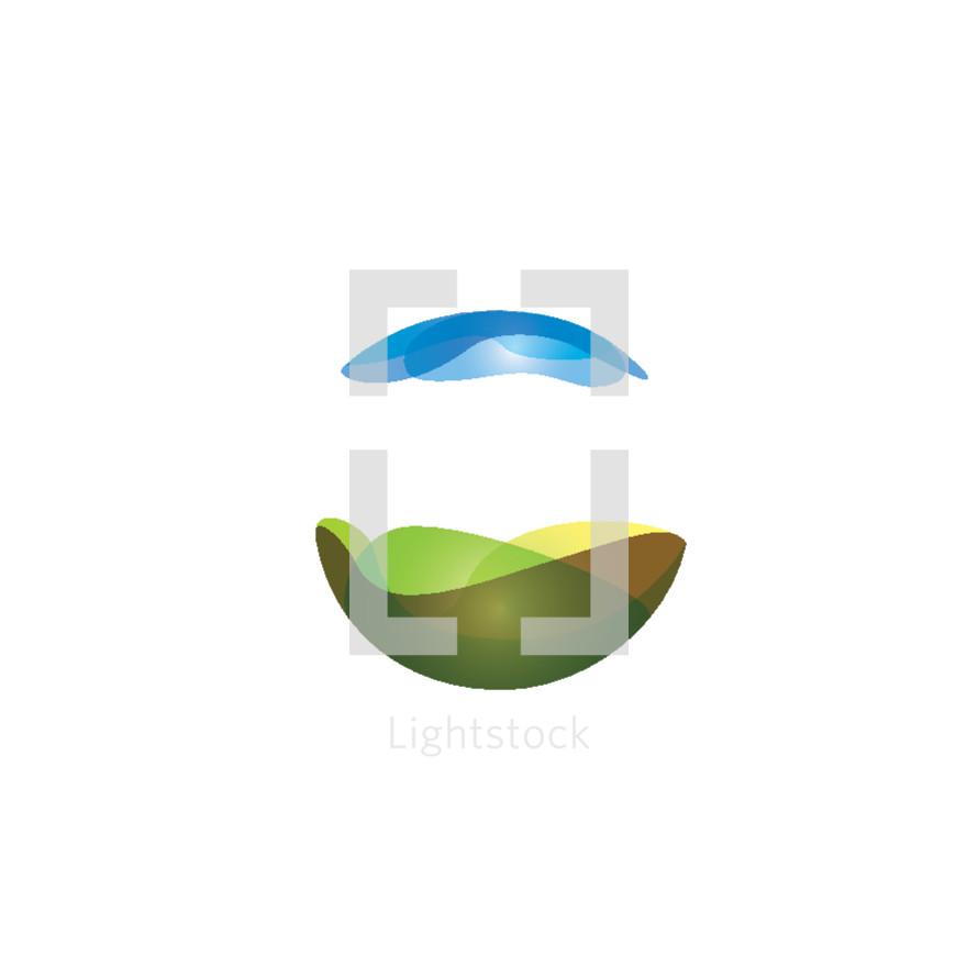 creation, heaven, earth, logo, globe