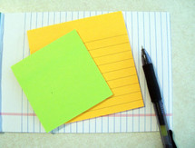 White paper stationary with lines of paper, post-it notes, note pads and a pen. As a society, we have so many ways of communicating and yet nothing beats a simple pen and paper and note to communicate a thought, idea, memory or just to let someone know that you are on their mind.