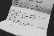 letter on paper